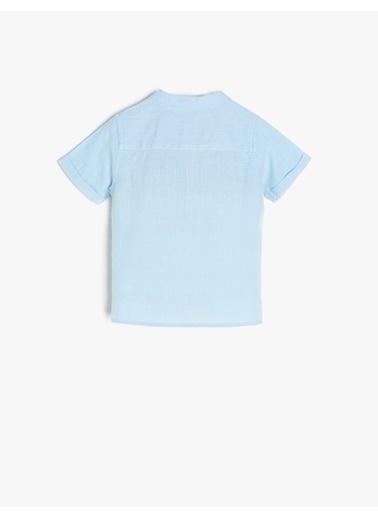 Koton Kids Hakim Yaka Gömlek Mavi